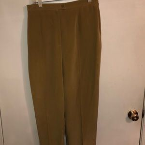 Jones NY 100% beige silk slacks. Size 12.